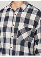 Koton Kareli Uzun Kollu Gömlek Lacivert
